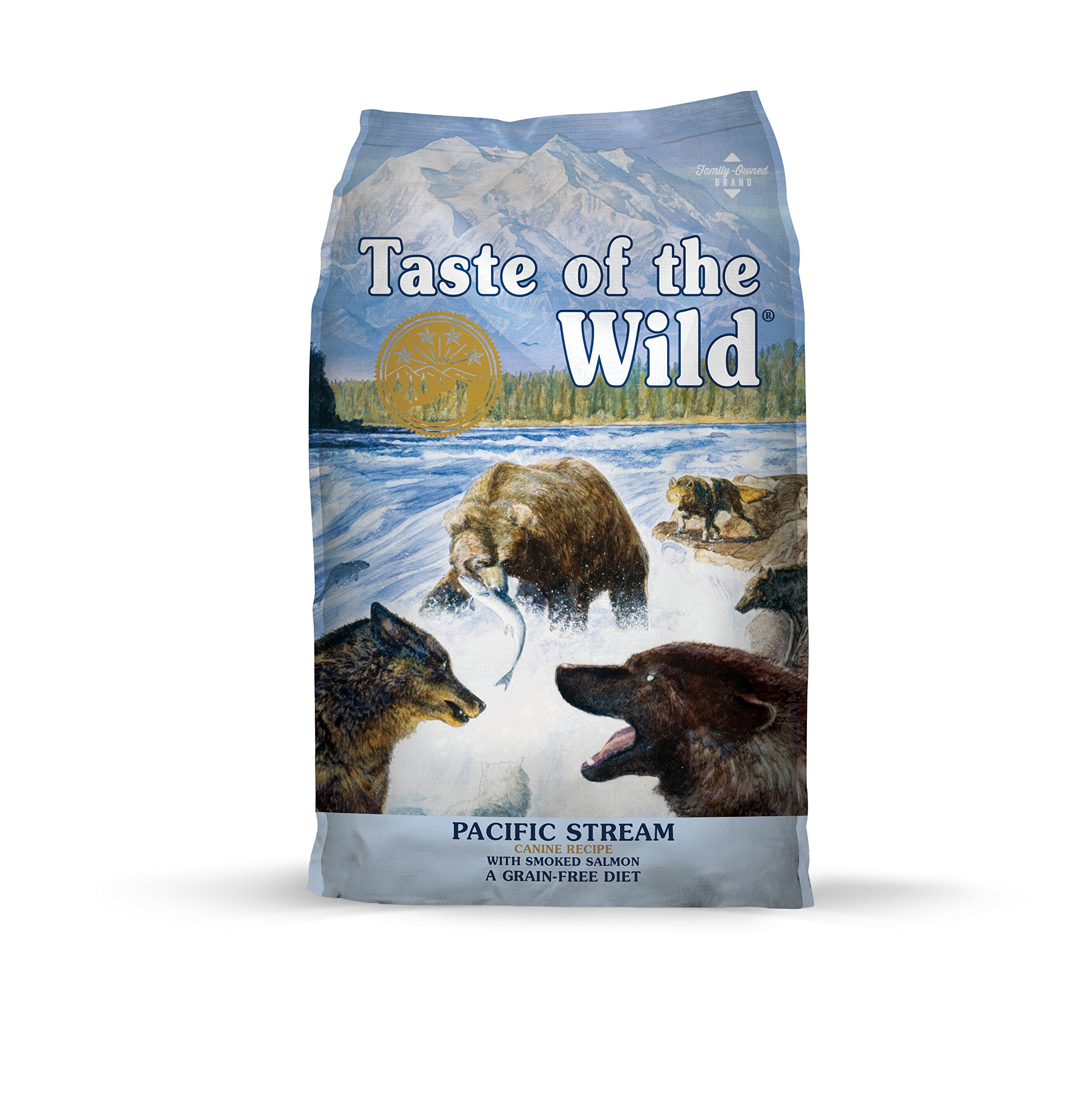 Taste of the Wild Pacific Stream Grain Free Protein Real Meat Recipe Natural Dry Dog Food with Real Smoked Salmon 28lb by Taste of the Wild