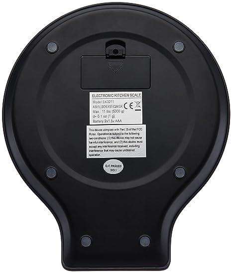 Amazonbasics Digitale Kuchenwaage Mit Lcd Anzeige Mit Batterien