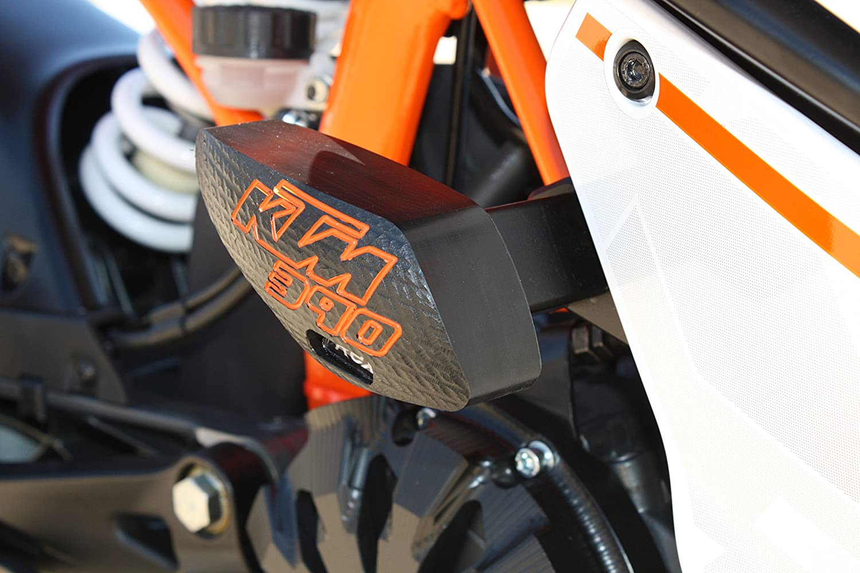 Amazon.com: T-Rex Racing 2015 - 2017 KTM RC 390 No Cut Frame Sliders ...
