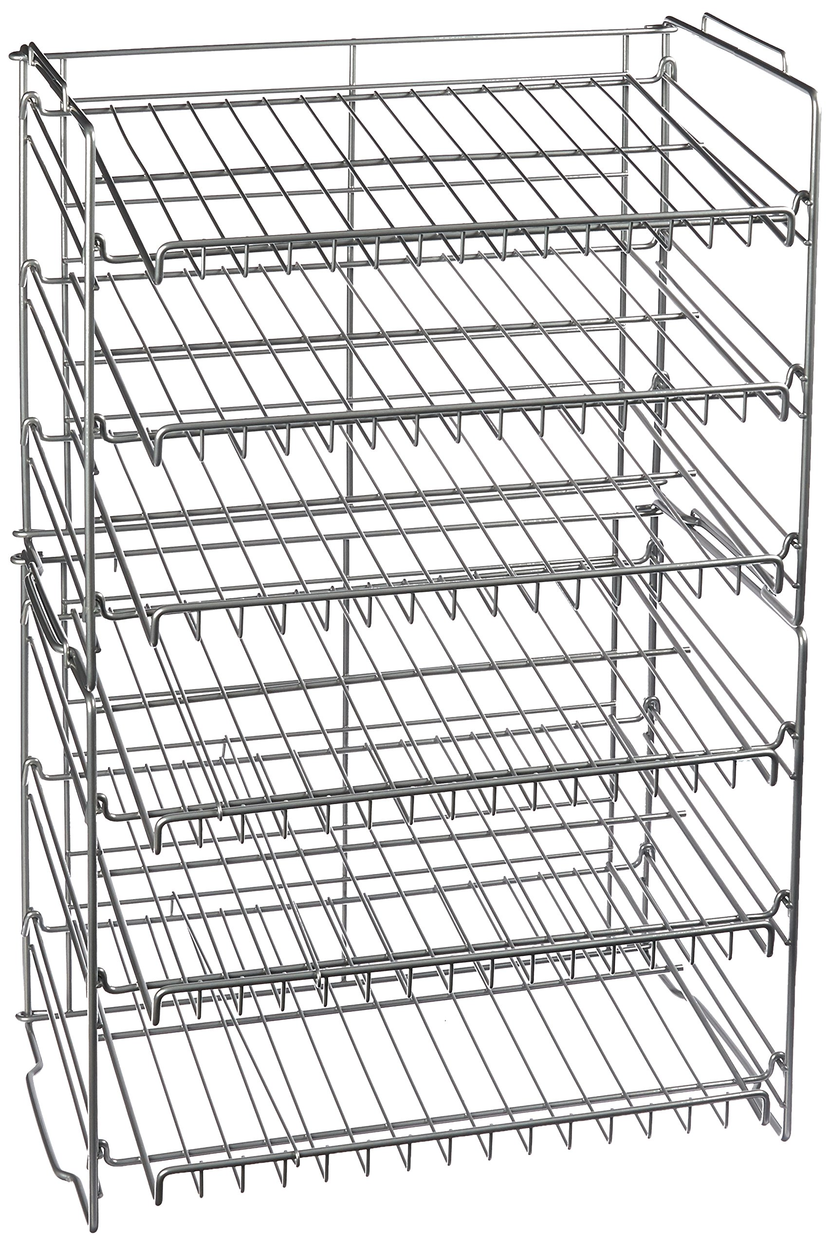 Atlantic Gravity-Fed Compact Double Canrack - Kitchen Organizer, Durable Steel Construction, Stackable or Side-by-Side, PN23235595 in Silver by Atlantic