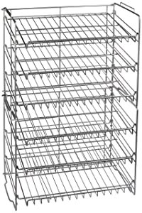 Atlantic Gravity-Fed Compact Double Canrack – Kitchen Organizer, Durable Steel Construction, Stackable or Side-by-Side, PN23235595 in Silver