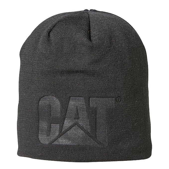 124d2be45080 Caterpillar C1128097 TRADEMARK KNIT   Mens Winter Beanie Hat (One Size) ( Black)