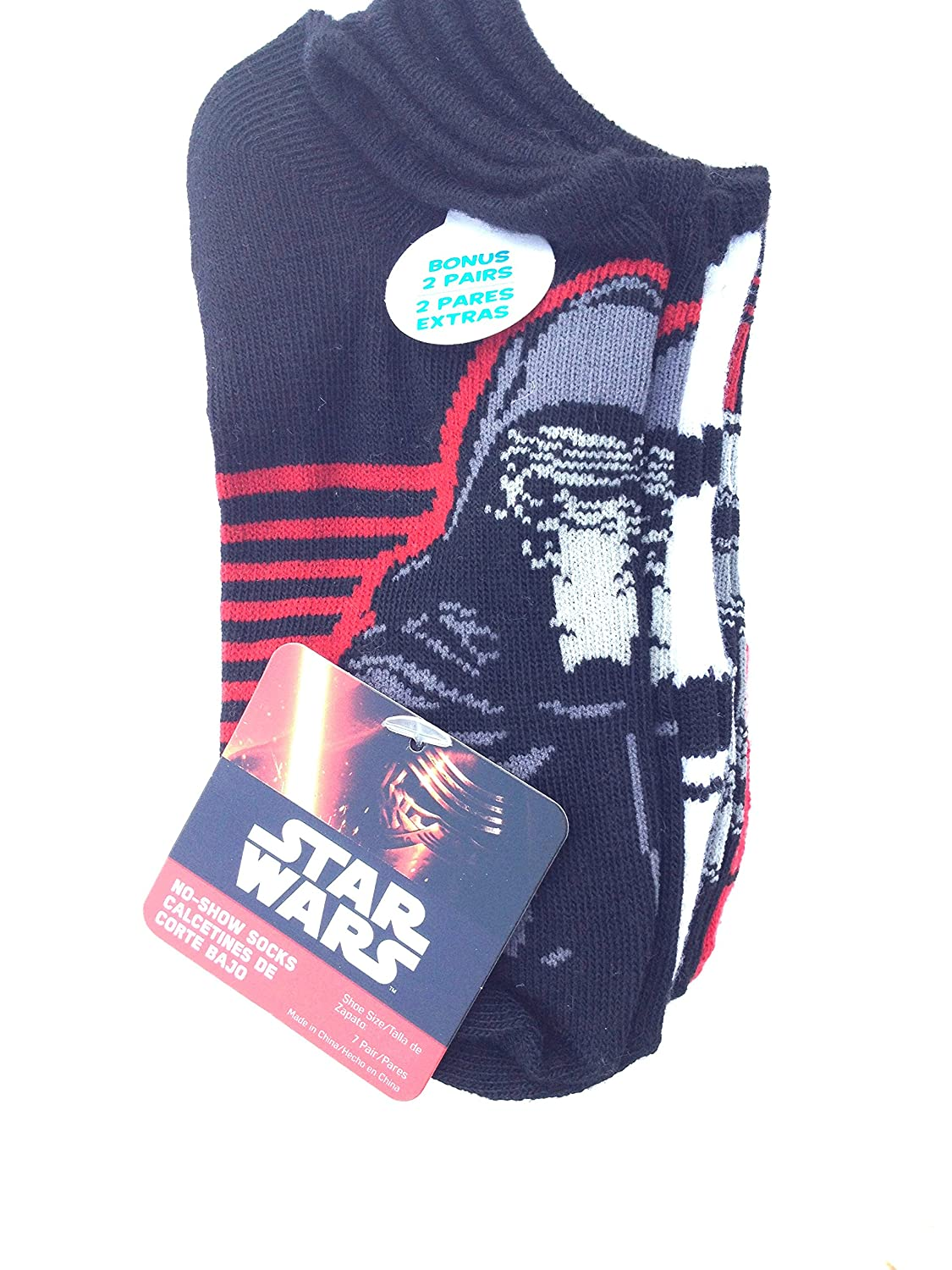 Amazon.com: Boys Star Wars Episode 7 No Show Socks 7 Pairs Medium 7.5-3.5: Clothing