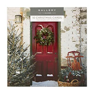 Hallmark 25499885Gallery Pack'rosso e verde–10biglietti di Natale, 2disegni 2disegni