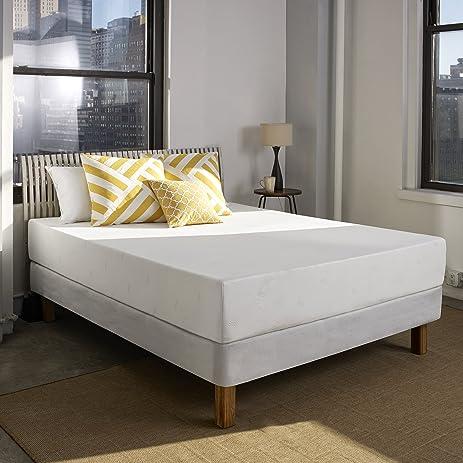sleep innovations 10inch suretemp memory foam mattress with 20year warranty with