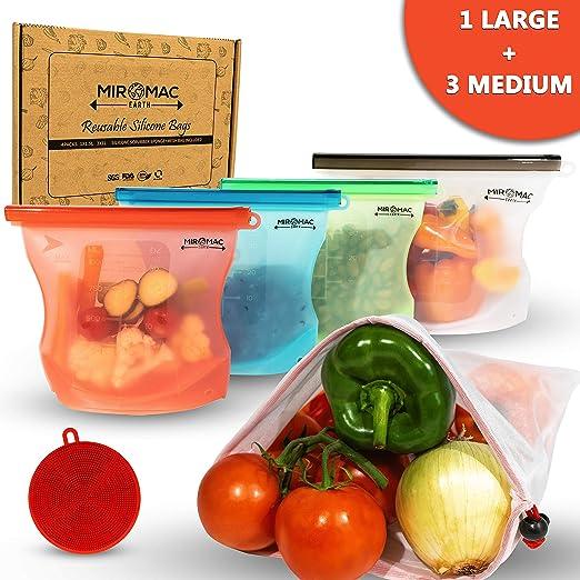 Bolsa de silicona reutilizable para alimentos | Bolsa de ...