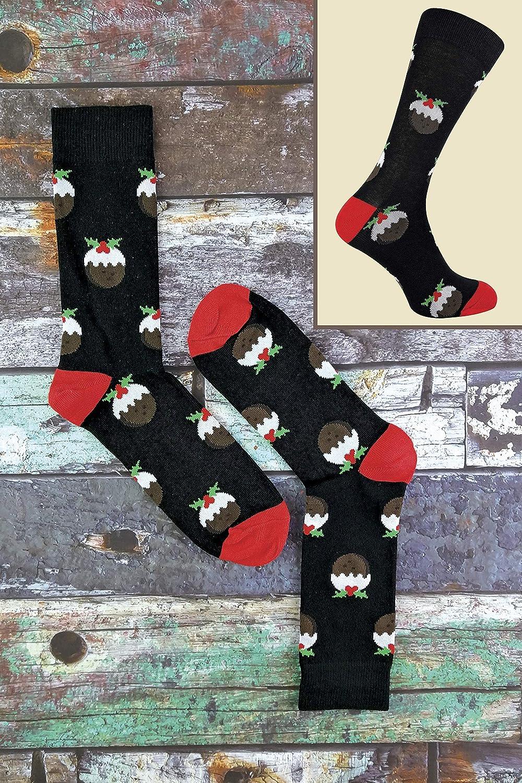 Sock Snob FESTIVE FEET 6 Paia Uomo Eleganti Fantasia Cotone Calze di Natale