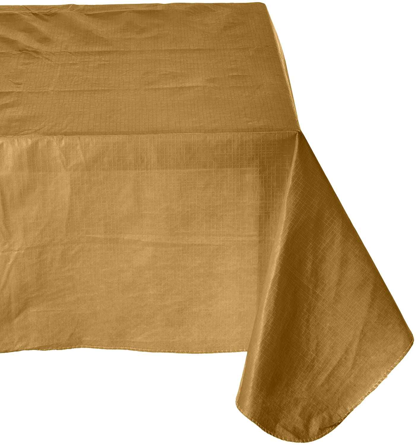 Amscan Flannel Backed Oblong Table Cover | Gold | 52 x 90| Party Supply | 6 ct.