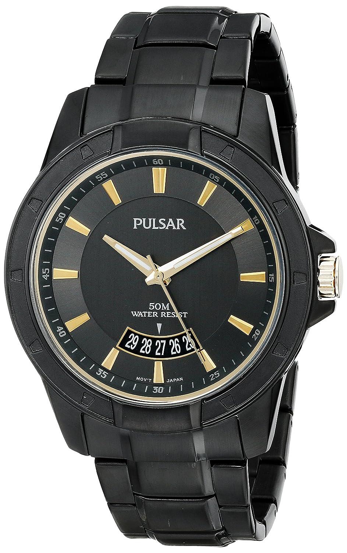 Pulsar Men s PS9273 On The Go Analog Display Japanese Quartz Black Watch