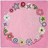 Haba 8062 - Alfombra guirnalda, 140 cm, color rosa