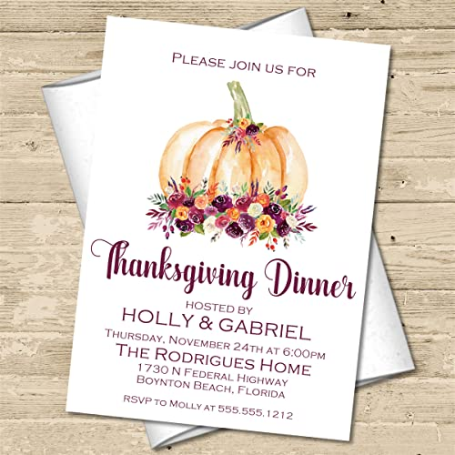 amazon com thanksgiving dinner invitations with envelopes