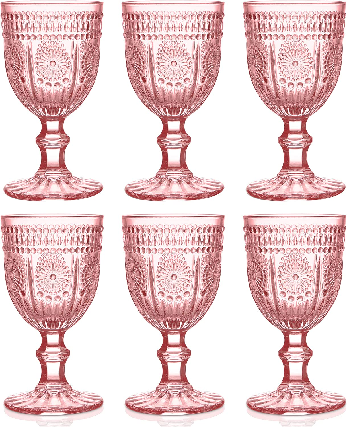Max 46% Latest item OFF Pink Wine Glasses set of 6 bridesmaid for perfect glassware pink