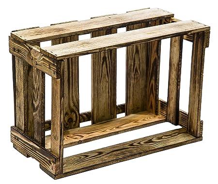 4 pieza flambierte/geflammte/madera cajas de vino/fruta Altes Land XXX CA 49 x 30 x 28 cmxxx: Amazon.es: Juguetes y juegos