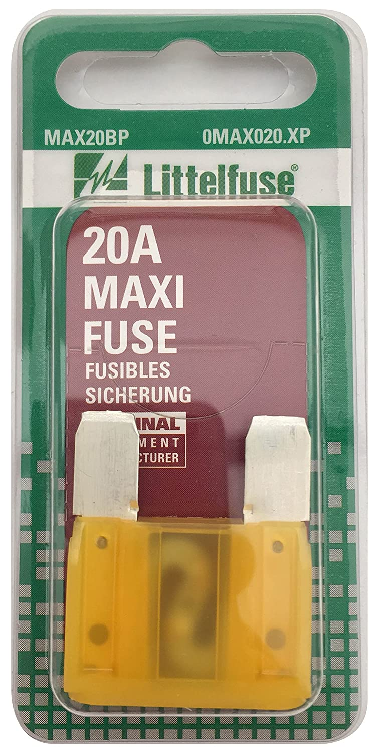 Littelfuse 0MAX020.XP MAXI 32 Volt 20 Amp Carded Fuse