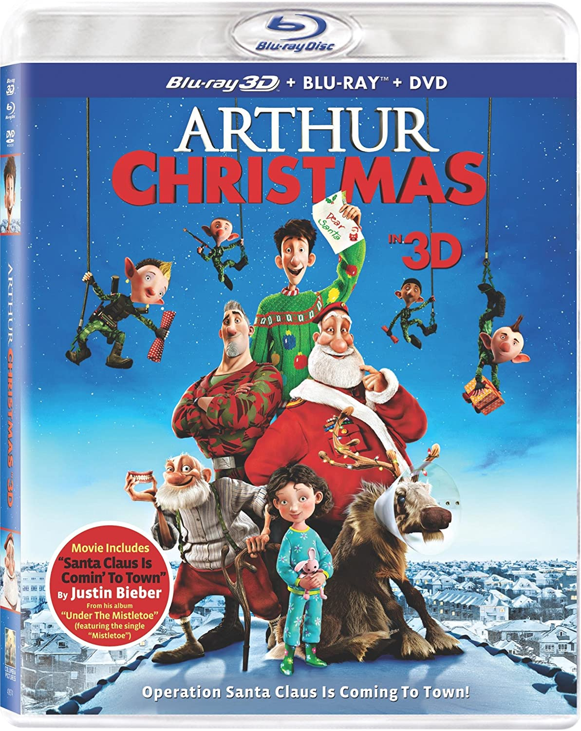 Amazon.com: Arthur Christmas (Three Discs: Blu-ray 3D / Blu-ray ...