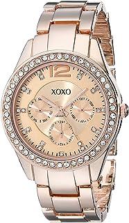 XOXO Womens XO5477 Rose Gold-Tone Bracelet Watch