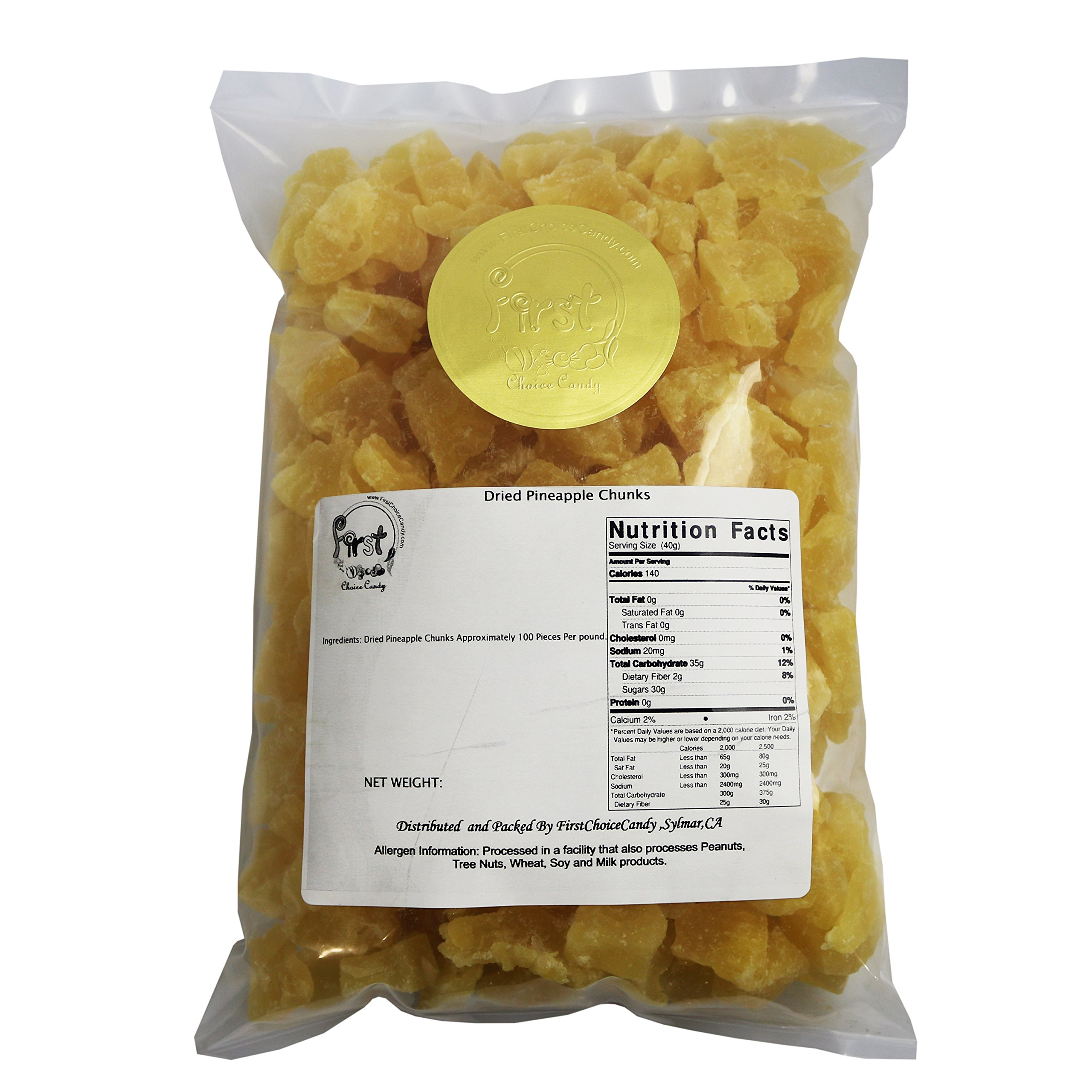 Pineapple Chunks 2 Pound Bulk Bag by FirstChoiceCandy