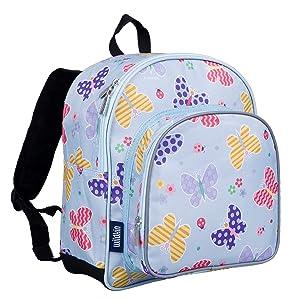 Wildkin 40113 Butterfly Garden Olive Kids 12 Inch Backpack, Pack 'n Snack