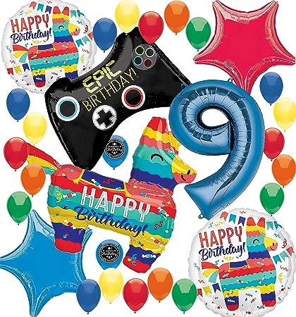 Amazon.com: Fortnite – Juego de decoración de globos de ...