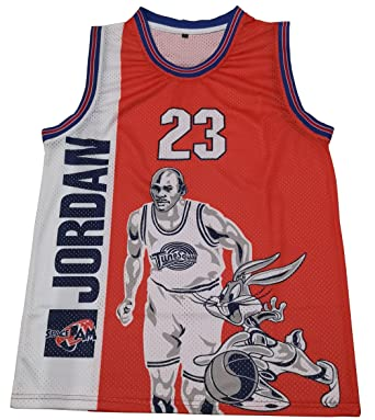 2531fa69df2 Michael Jordan Space Jam #23 Tune Squad Movie Basketball Jersey Men (Medium)