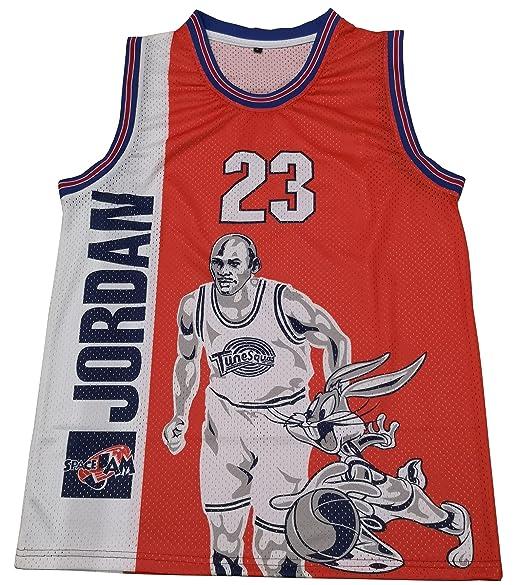 new style e5c4c be47d Kooy Jordan Space Jam #23 Tune Squad Movie Basketball Jersey Men