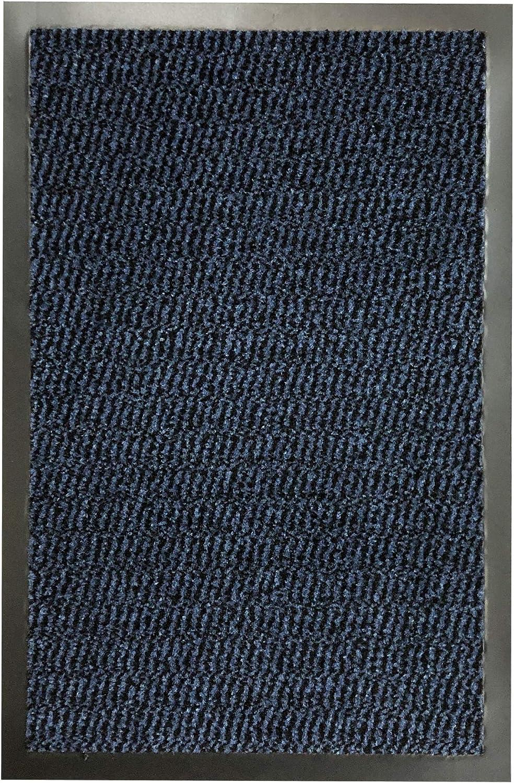 PVC Edge Door Entrance Barrier Mat Heavy Duty Hallway Anti Slip Runner Rug Blue