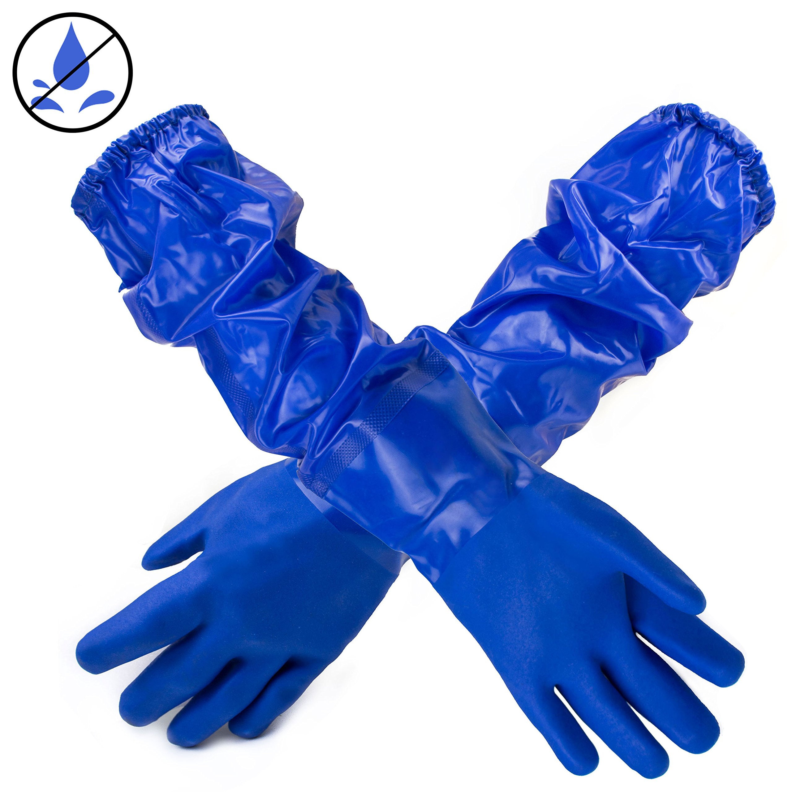 Better Grip BG26PVC-BLU Premium Double Coated 23 inch PVC Chemical Resistant Gloves (36 Pairs)