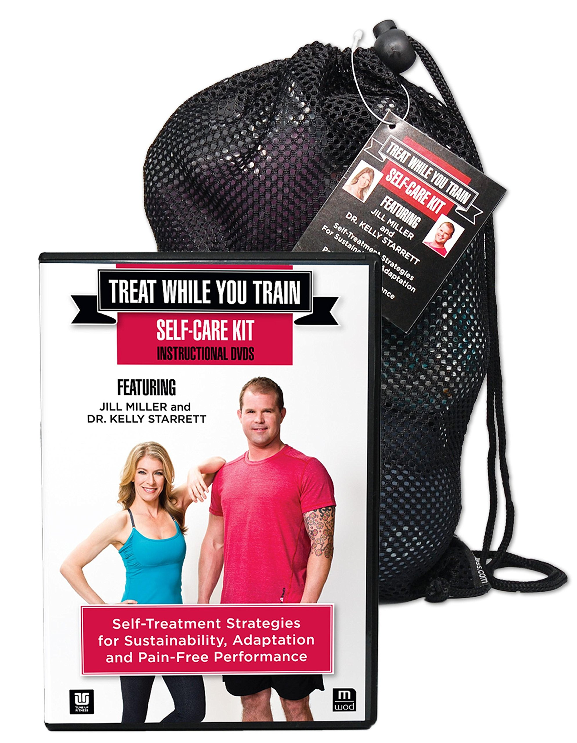 Tune Up Fitness Treat While You Train Kit with Jill Miller and Kelly Starrett, 2 DVD Set and Full Roll Model Self Massage Therapy Ball Set, Improve Mobility, Myofascial Release, Trigger Point Therapy by Tune Up Fitness