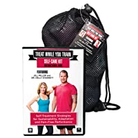 Tune Up Fitness Treat While You Train Kit with Jill Miller and Kelly Starrett, 2 DVD Set and Full Roll Model Self Massage Therapy Ball Set, Improve Mobility, Myofascial Release, Trigger Point Therapy