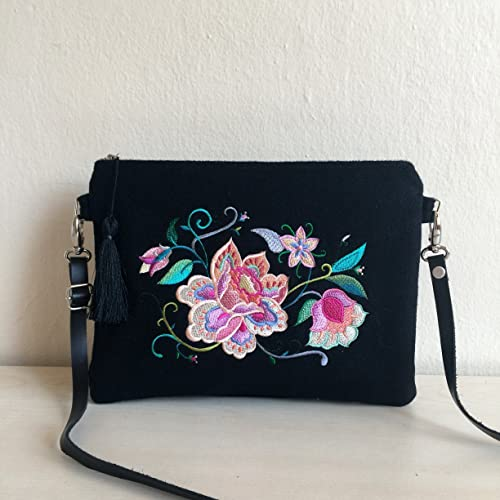 f7f1e5763d99 Amazon.com  Embroidered Crossbody Bag