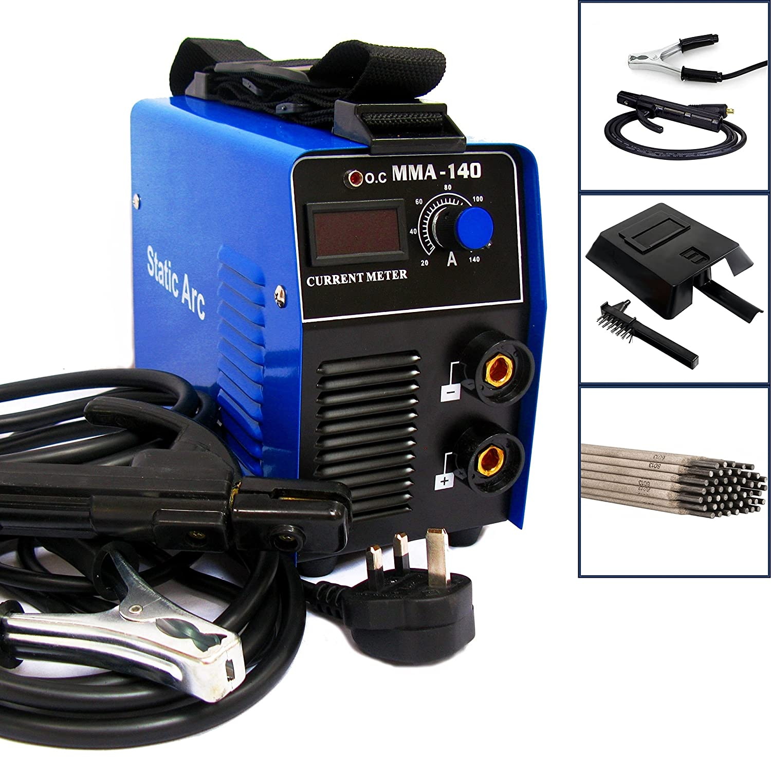 MMA 140A IGBT Inverter DC ARC Stick Welder Portable Welding Machine + ELECTRODES Generic