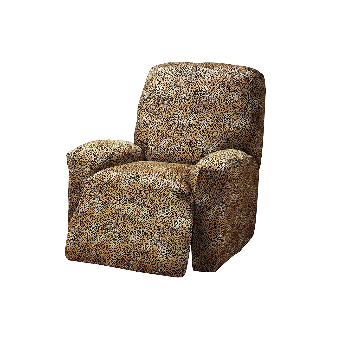 Madison Stretch Jersey Leopard Large Recliner Slipcover, Geometric MADISON INDUSTRIES INC. us home MBPT0