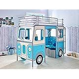 demeyere 3325 etagenbett 90 x 190 200 cm bussy inklusiv rollrost mdf mit lack gr n wei amazon. Black Bedroom Furniture Sets. Home Design Ideas