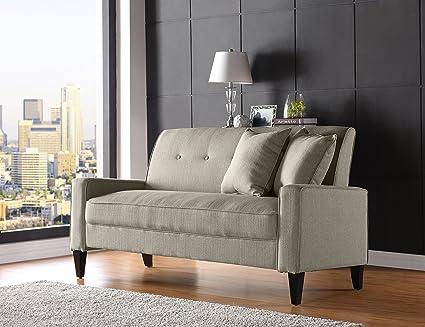 Amazon.com: Domesis Granada Sofa in Barley Tan Linen ...