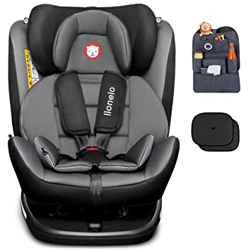 Autokindersitz Autositz Kinderautositz Isofix//5  Punkt Gurt//0-36kg//360° Drehbar