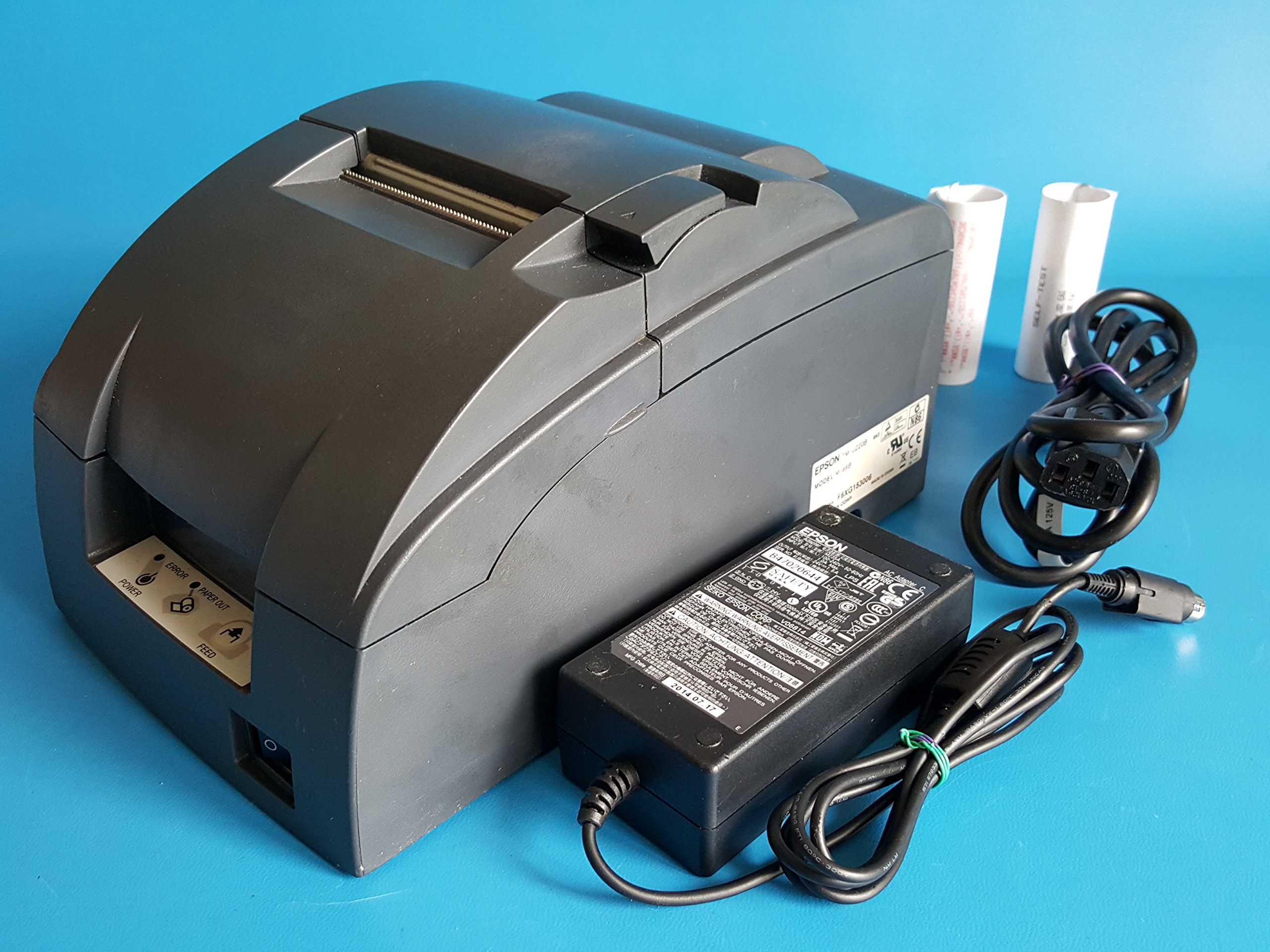 Epson TM-U220B M188B POS Receipt Printer USB Interface - Red & Black Ribbon - with Power Supply