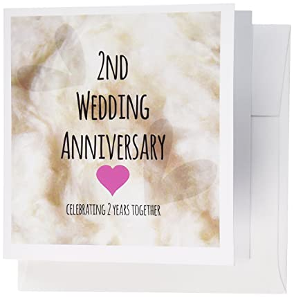 Amazon 3drose 2nd wedding anniversary gift cotton 3drose 2nd wedding anniversary gift cotton celebrating 2 years together second anniversaries greeting m4hsunfo