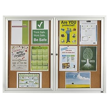 Amazoncom Quartet Enclosed Cork Indoor Bulletin Board 4 X 3 Feet