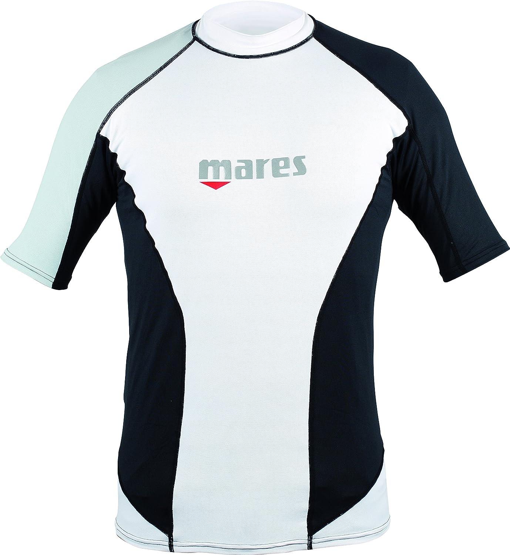 Long Sleeve Black//White Mares Men/'s Rash Guard Loose Fit