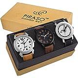 PIRASO Analogue Black Dial Men's Watch(Combo of 3) - PW3-9103