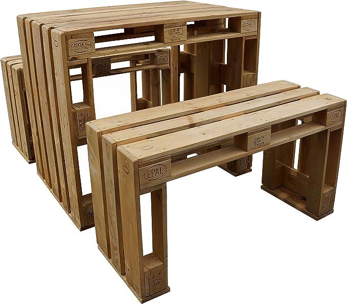 palé Muebles de Jardín Set pie mesa asiento Bancos