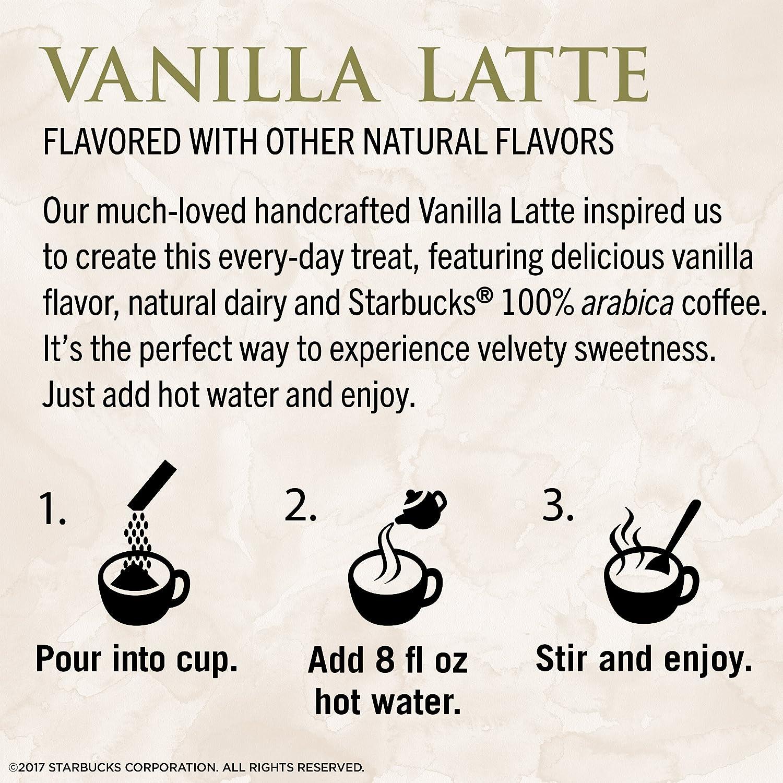 Amazon.com : Starbucks VIA Instant Vanilla Latte (1 box of 5 packets ...