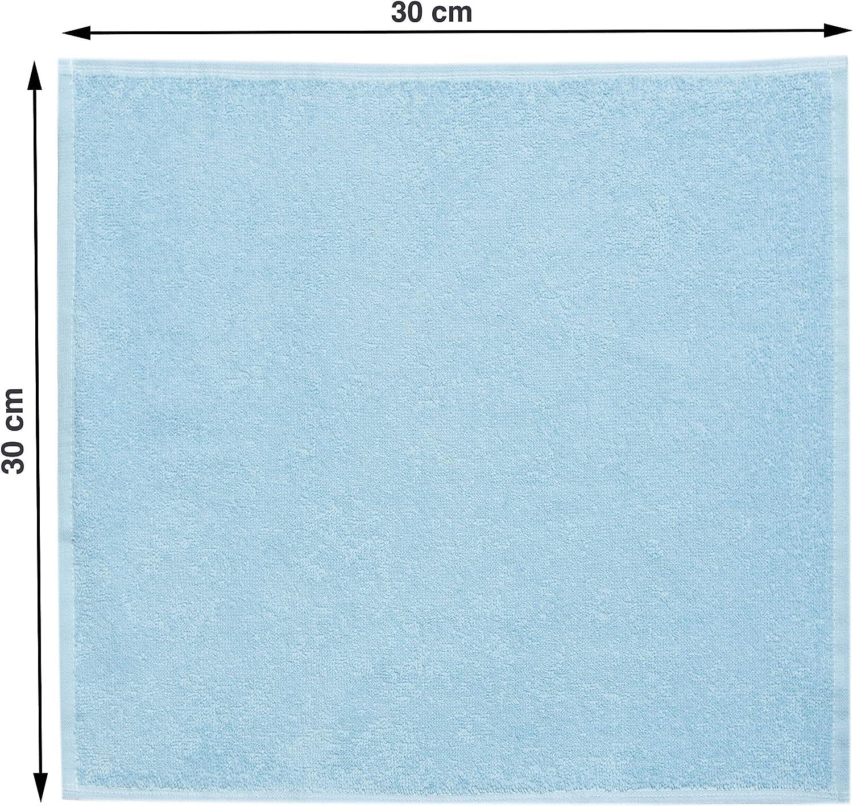 az/úl 30x30 cm ZOLLNER 10 Toallas para la Cara algod/ón 100/%