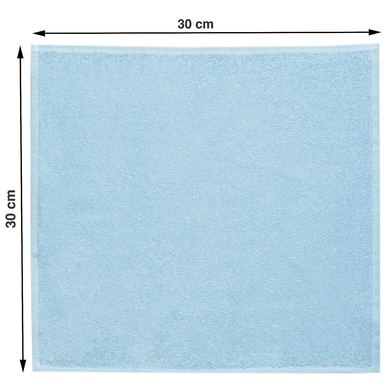 Giallo ZOLLNER 10 Lavette da Bagno Cotone 100/% 30x30 cm Altri Colori