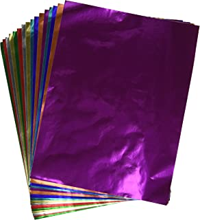 Amazon.com: Hygloss Products Metallic Foil Paper Sheets - 8 Assorted ...