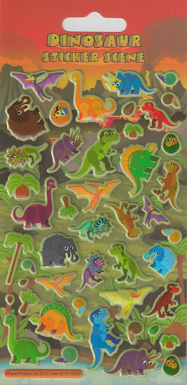 Sticker - Dinosaurios - Puffy - Env DL-L - proyectos de Papel