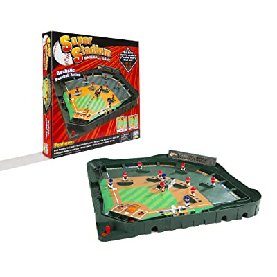 Game Zone Super Stadium Baseball Game with Realistic Baseball Action: Toys & Games