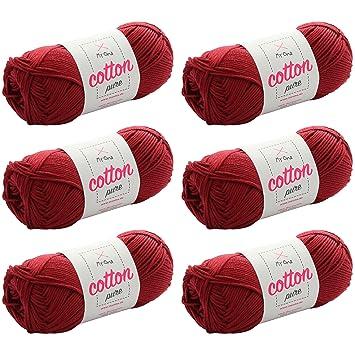 Baumwollgarn *MyOma Cotton pure rubinrot (Fb 0020)* Baumwollgarn zum ...