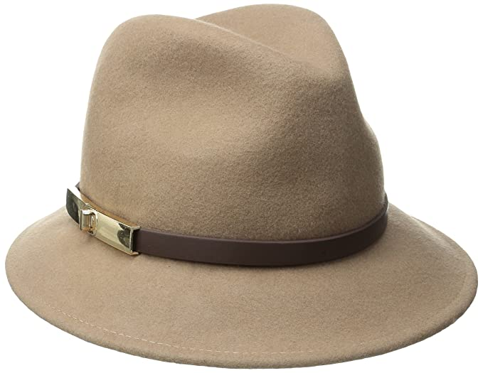 Ladies 100/% Wool Fedora Hat Trilby with Wider Brim,Studded Band