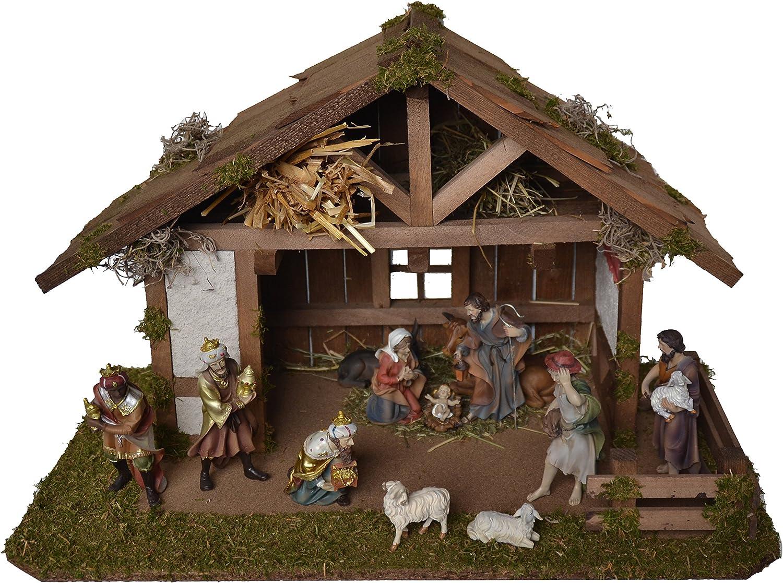 Braun Alfred Kolbe Krippen Weihnachtskrippe 59x30x30cm